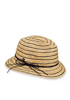 Karen Kane Stripe Fedora Hat