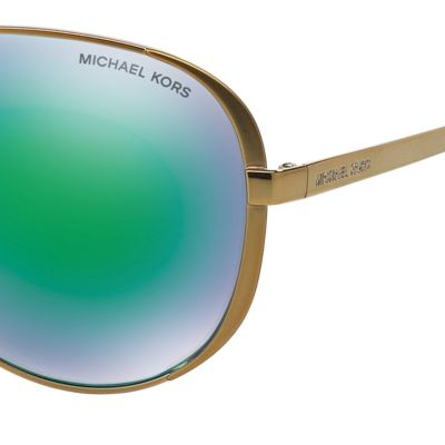 Aviator Sunglasses: Green Michael Kors Chelsea Aviator Sunglasses