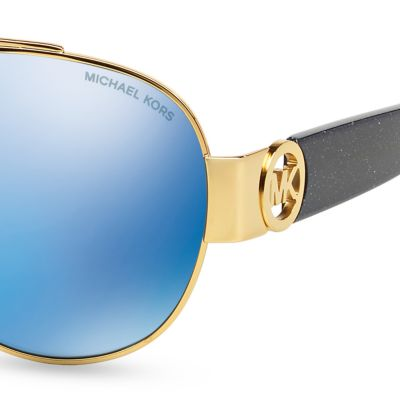 Aviator Sunglasses: Blue Michael Kors Tabitha II Aviator Sunglasses