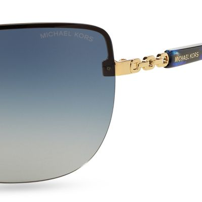 Fashion Sunglasses: Blue Gradient Michael Kors Sabina I Sunglasses