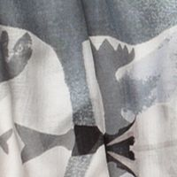 Clothing Accessories: Oblong: Green/Grey Urban Originals™ Japanese Leaves Scarf
