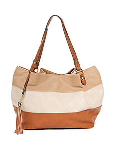 Kim Rogers Tan Striped Tote