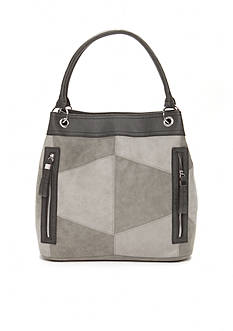 New Directions Patchwork Hobo Shoulder Bag