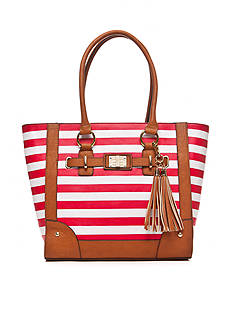 New Directions® Stripe Tassel Shopper