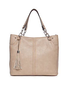 New Directions® Double Handle Tassel Shopper