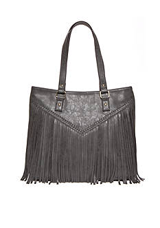 New Directions® Double Handle Fringe Tote