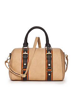 New Directions Double Handle Speedy Satchel With Detachable Shoulder Strap