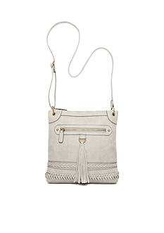 New Directions Tassel And Braid Crossbody
