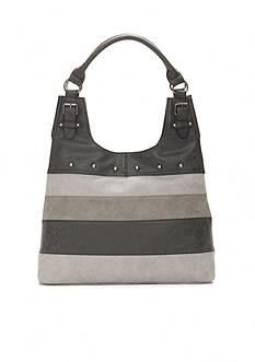 New Directions Striped Hobo Shoulder Bag