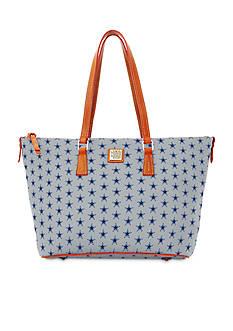 Dooney & Bourke Cowboys Zip Top Shopper Bag
