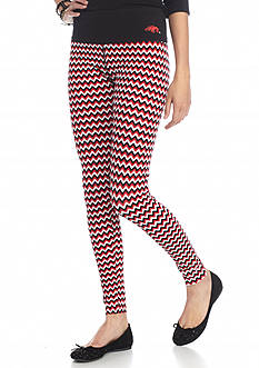 LoudMouth University  - Arkansas Razorbacks Chevron Leggings