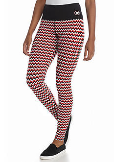 LoudMouth University  - Georgia Bulldogs Chevron Leggings