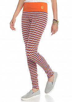 LoudMouth University - Clemson Tigers Chevron Leggings
