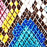 Pink Designer Handbags: Multi Snake/Black AIMEE KESTENBERG Macau Triple Entry Tote