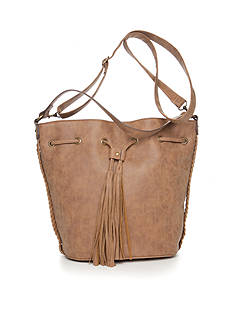 Red Camel Large Dark Grey Bucket Bag