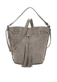 Red Camel® Large Dark Grey Bucket Bag