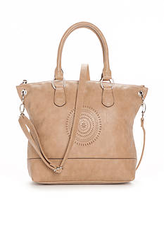 Red Camel Double Handle Satchel With Perf
