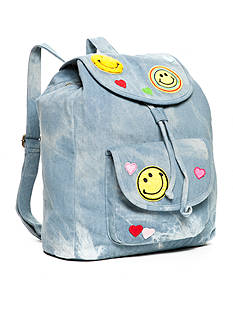 Red Camel® Emoji Smile Face Denim Backpack