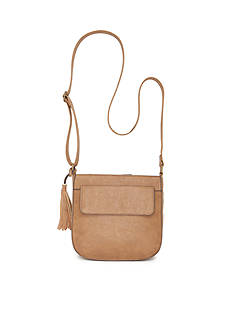 Red Camel Crossbody with Tassel Bag