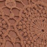 Handbags and Wallets: Tan Red Camel Crochet Flap Crossbody