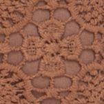 Handbags and Wallets: Tan Red Camel Crochet Top Zip Crossbody