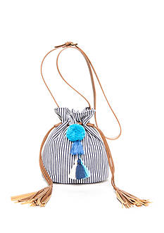 Red Camel® Small Drawstring With Pom Pom Bag