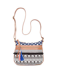 Red Camel Crossbody with Tassel