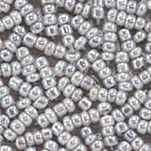 Wallets: Silver La Regale Graduated Bead Flap Clutch