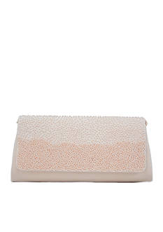 La Regale Graduated Bead Flap Clutch