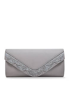 La Regale Scalloped Beaded Envelope Clutch