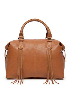 Red Camel Fringe Satchel Bag
