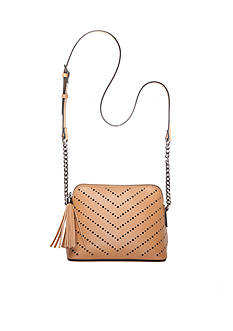 New Directions® Perforated Tassel Crossbody