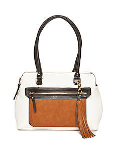 New Directions Color block Satchel Bag