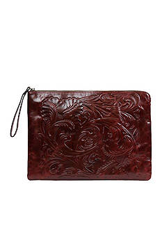 Patricia Nash Tooled Braga Leather Laptop Sleeve