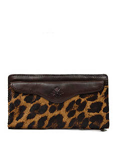 Patricia Nash Leopard Valentia Snap Wristlet