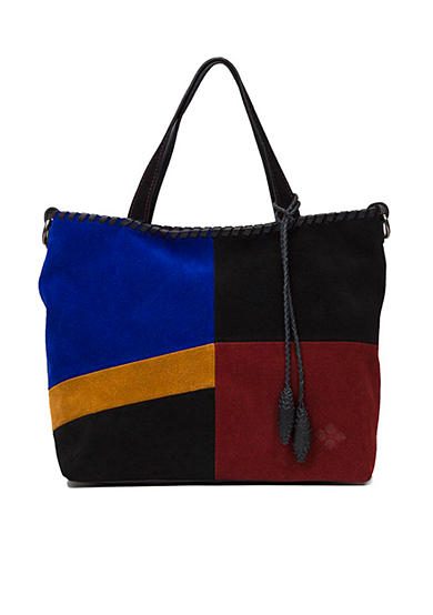 Patricia Nash Suede Colorblock Zola Bag