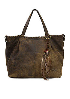 Patricia Nash Heavy Stitch Acid Wash Zola Tote