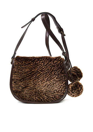 Patricia Nash Laser Cut Sherpa Salerno Saddle Bag