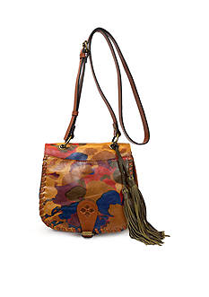 Patricia Nash Parisian Camo Karisa Saddle Bag