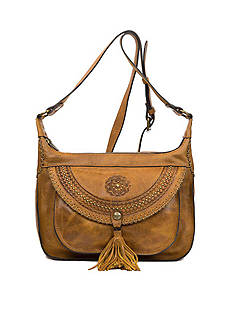 Patricia Nash Distressed Vintage Camila 2 Zip Hobo Bag