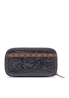 Patricia Nash Tooled Oria Zip Around