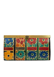 Patricia Nash Floral Squares Cauchy Wallet