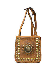 Patricia Nash Medallion Distressed Granada Crossbody Bag