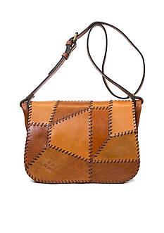Patricia Nash Patchwork Square Saddle Bag