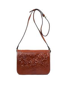 Patricia Nash Veg Tan Tooled Navano Crossbody Bag