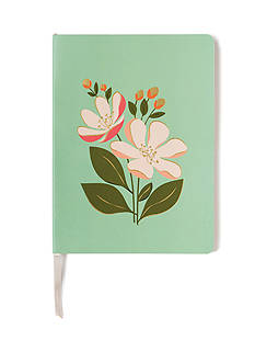 spartina 449 Floral Blue 8.5x6 Ruled Journal