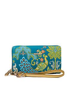 spartina 449 Peacock Manor Zip Wallet