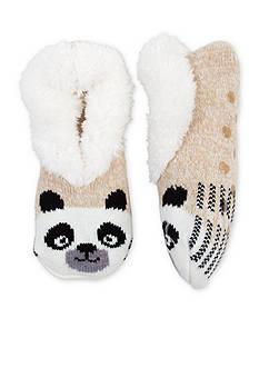 High Point Design Teddy Fur Critter Slipper Socks - Single Pair