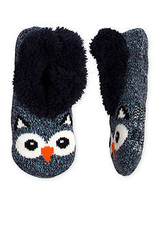 High Point Design Teddy Fur Critter Slipper Socks- Single Pair
