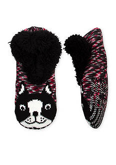 High Point Design Teddy Fur Critter Slipper Socks - Single Pair